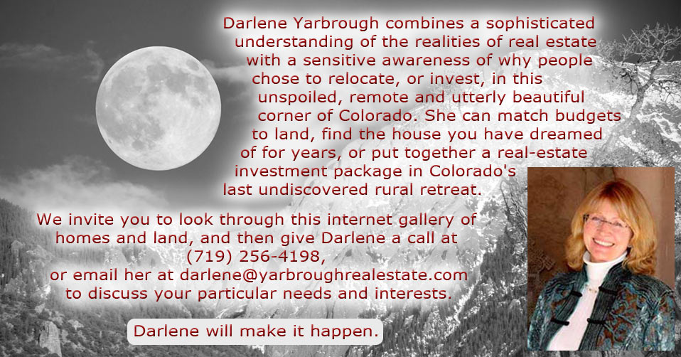Darlene Yarbrough, Crestone Colorado, Realtor, Real Estate Agent, Homes for Sale, Land for Sale